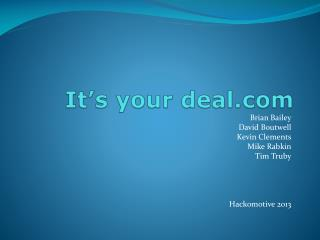 It's your deal.com