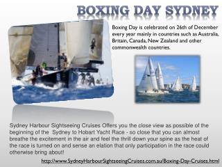 sydney boxing day cruises