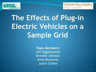 The Effects of Plug-in Electric Vehicles on a Sample Grid