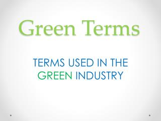 Green Terms