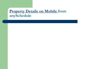 SMS Property Market |  Property Details on SMS