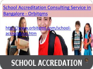 school accreditation  consulting service in bangalore
