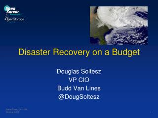 Disaster Recovery on a Budget