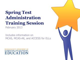 Spring Test Administration  Training Session