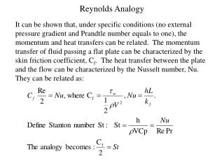 reynolds analogy