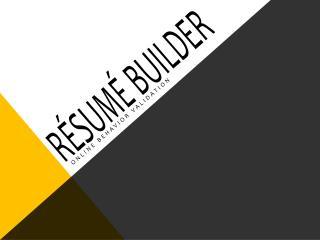 Résumé Builder