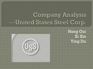 Company Analysis ---United States Steel Corp.