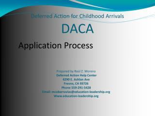 Deferred Action for Childhood Arrivals DACA