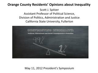 Orange County Residents' Opinions about Inequality