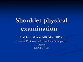 shoulder complex special tests