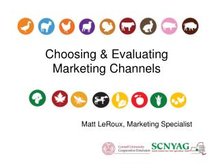 Choosing & Evaluating  Marketing Channels