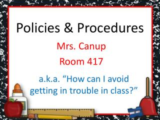 Policies & Procedures