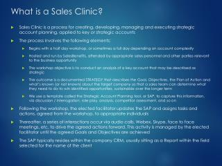 What is a Sales Clinic?