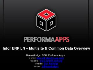 Infor ERP LN – Multisite & Common Data Overview
