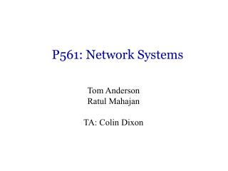 P561: Network Systems