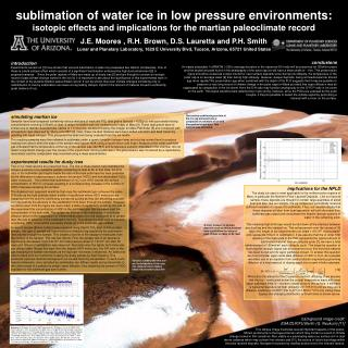 sublimation of water ice in low pressure environments: isotopic effects and implications for the martian paleoclimate re