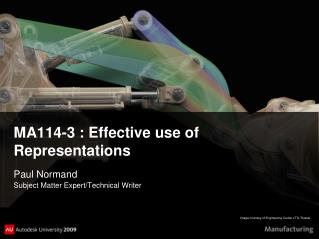 MA114-3 : Effective use of Representations