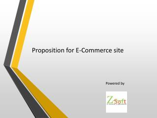 Proposition for E-Commerce site