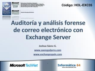 Auditoría y análisis forense de correo electrónico con Exchange Server