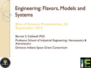 Engineering: Flavors, Models and Systems
