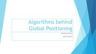 Algorithms behind Global Positioning