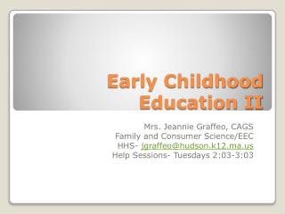 Early Childhood Education II