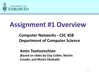 Assignment #1 Overview