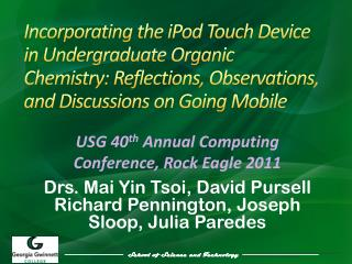 Incorporating the iPod Touch Device in Undergraduate Organic Chemistry: Reflections, Observations, and Discussions on Go