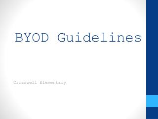 BYOD Guidelines