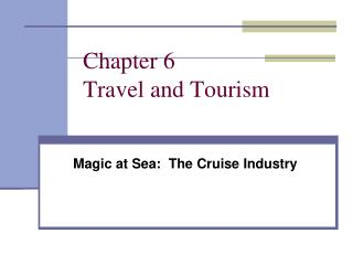 Chapter 6 Travel and Tourism