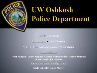 UW Oshkosh  Police Department