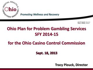 Ohio Plan for Problem Gambling Services SFY  2014-15 for the Ohio Casino Control Commission Sept. 18, 2013