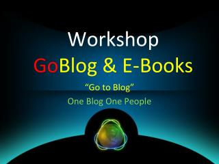Workshop Go Blog  & E-Books