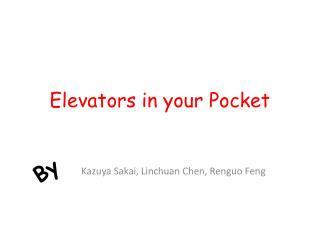 Elevators in your Pocket