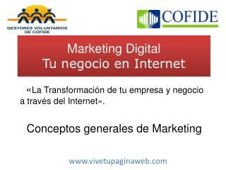 Marketing Digital Tu negocio en Internet