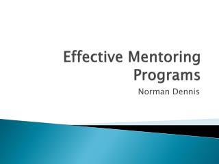 Effective Mentoring Programs