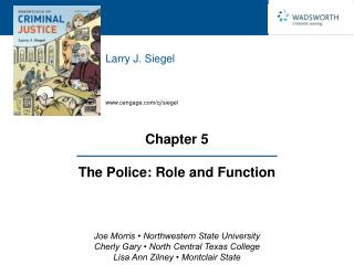 Chapter 5  The Police: Role and Function