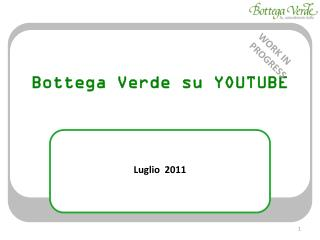 Bottega Verde su  YOUTUBE