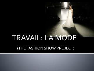 (THE FASHION SHOW PROJECT)
