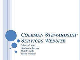 Coleman Stewardship Services Website