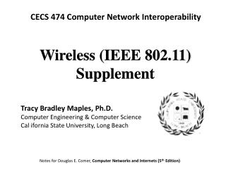 Wireless (IEEE 802.11) Supplement