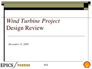 Wind Turbine Project Design Review