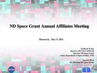 ND Space Grant Annual Affiliates Meeting