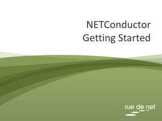 NETConductor  Getting Started