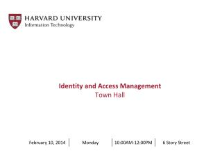 Identity and Access Management Town Hall