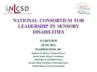 National  Consortium  for leadership  in  sensory disabilities