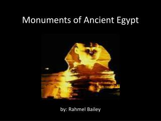 Monuments of Ancient Egypt