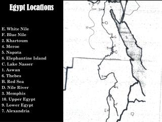 Egypt Locations