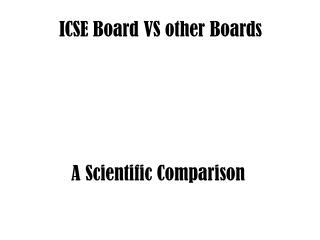 ICSE Board VS other Boards
