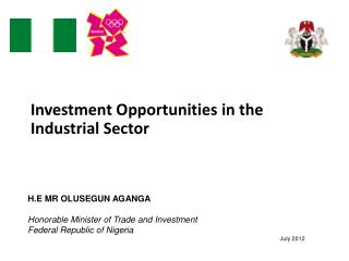 Investment  Opportunities in the Industrial Sector